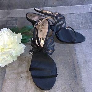 CHARLES DAVID Exchange black butterfly heel 7.5
